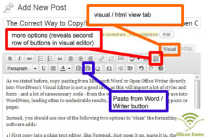 The Correct Way to Copy/Paste From Microsoft Word / OpenOffice Writer to WordPress