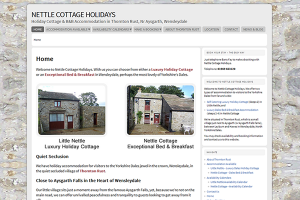 Nettle Cottage Holidays Website - Built in the Silicon Dales
