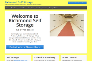 Richmond Self Storage – Website Design & Installation