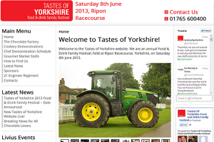 Tastes of Yorkshire Food & Drink Family Festival – New Website Launched