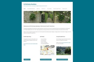 St Nicholas Gardens – Richmond, North Yorkshire – Website Built in Silicon Dales