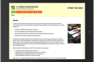 H Jones Associates – ISO Certification Consultancy