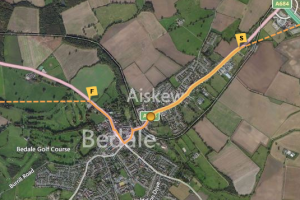 Olympic Torch Relay Route, Bedale, North Yorkshire