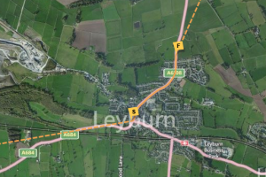 Olympic Torch Route in Leyburn