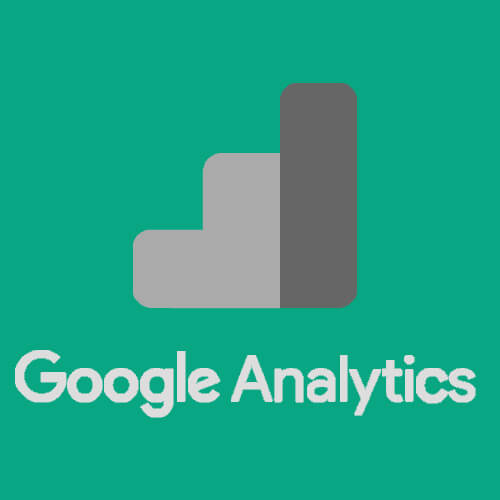 Google Analytics greyscaled with icon on green background