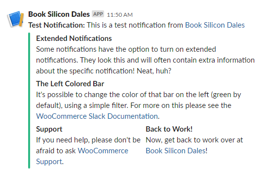 WooCommerce Slack integration