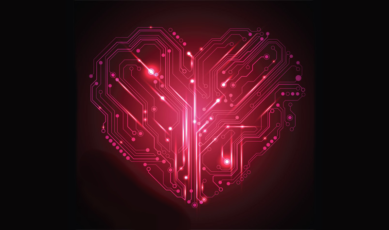 Tech heart circuit board