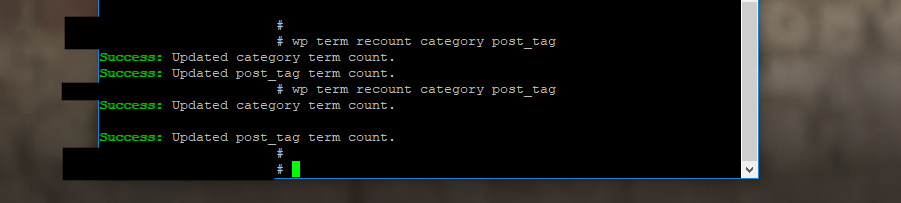 Tutorial: Use WP CLI to recount WordPress taxonomy terms featured image