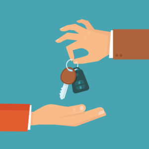 handing over car keys icons