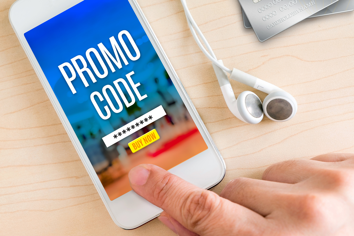 Promotional code on mobile AMP