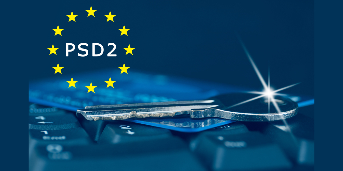 keyboard with key on it psd2 written within stars of the European Union