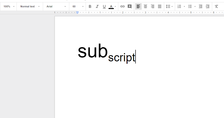How to subscript in Google Docs - Silicon Dales