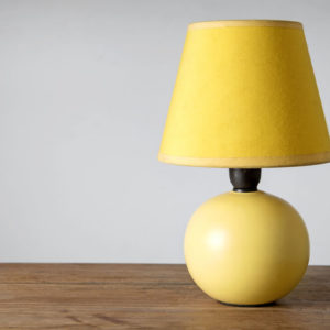 Actual real lamp on table