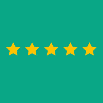 Five yellow stars on a green square