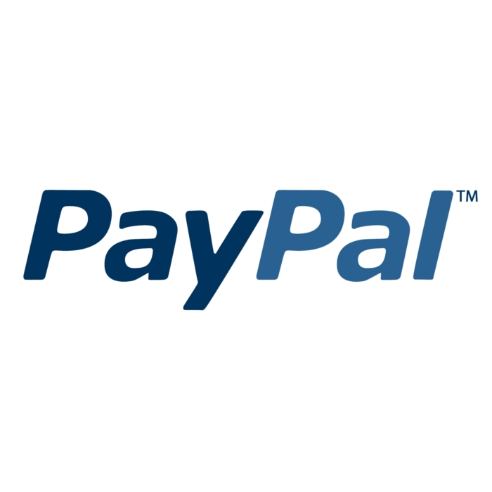 PayPal logo on white square