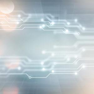 Tech nodes on a light background