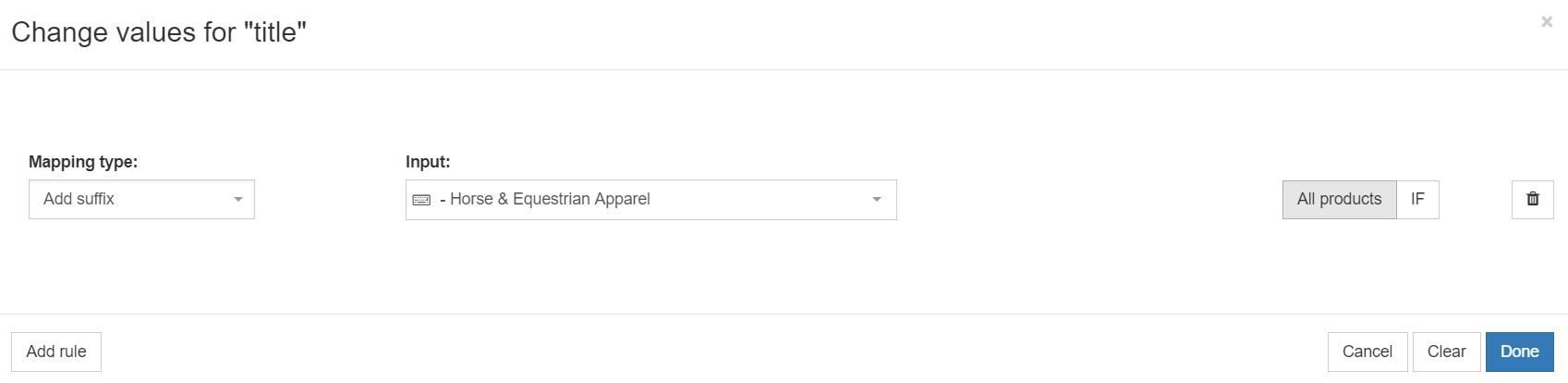 optimizing title in a google shopping feed