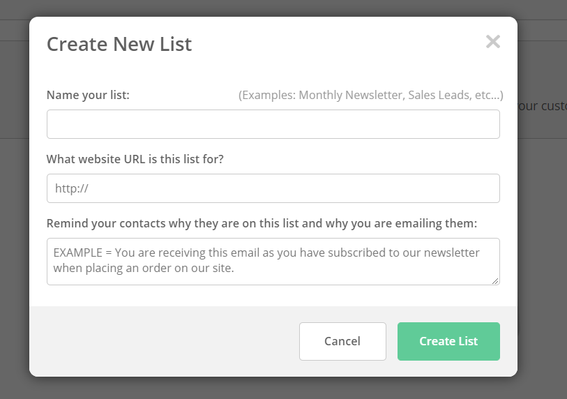 creating an email list in active campaign