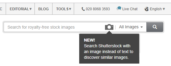 how to search shutterstock with an image