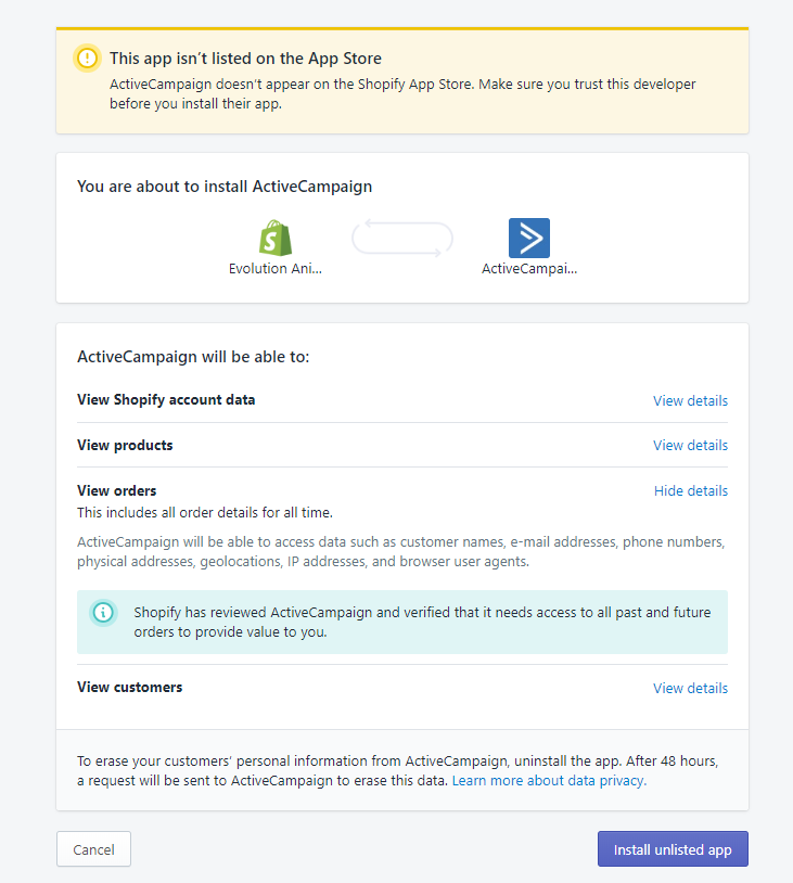 How To Setup ActiveCampaign And Connect Shopify For Email