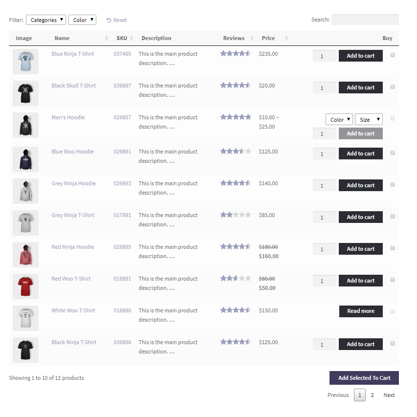 product table extension for woocommerce by barn2media
