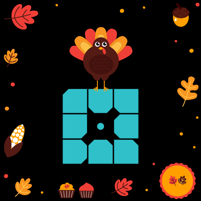 WP Engine with Thanksgiving turkey and associated paraphernalia celebrating the Holiday 2018