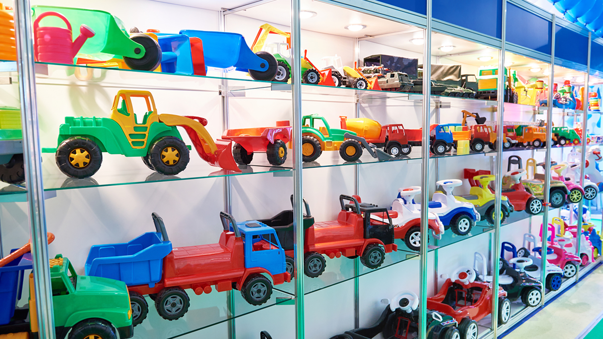 toys on shelf in store retail