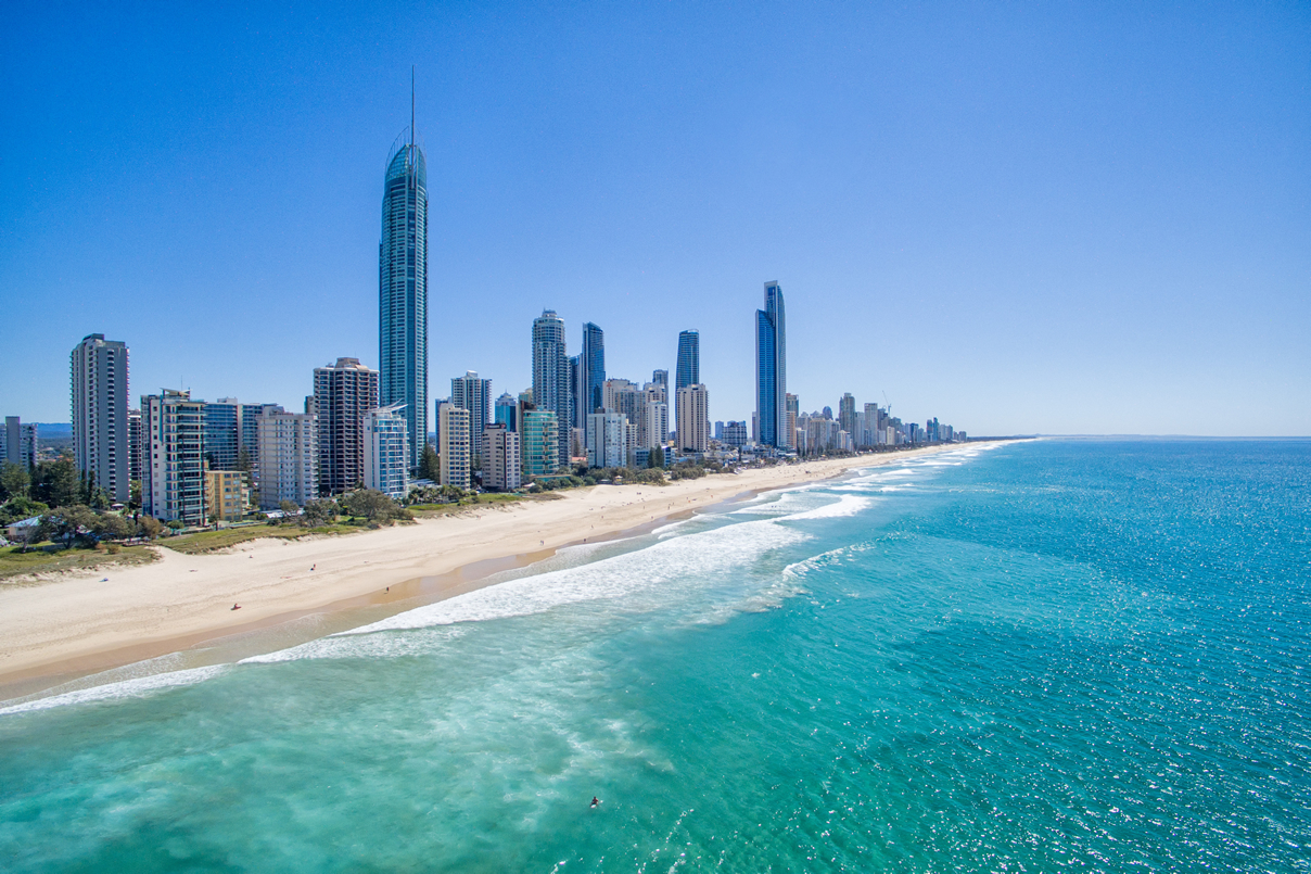 Australian city on the beach