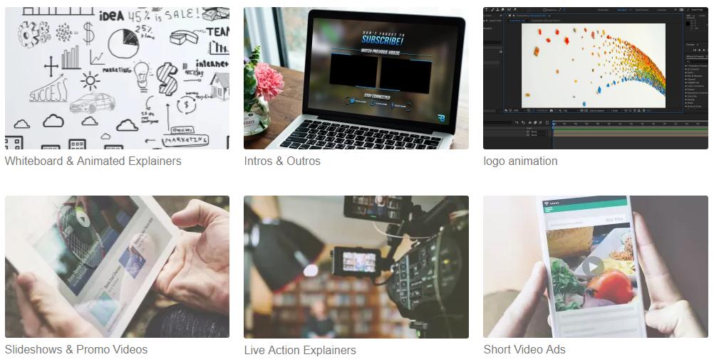 Fiverr video options