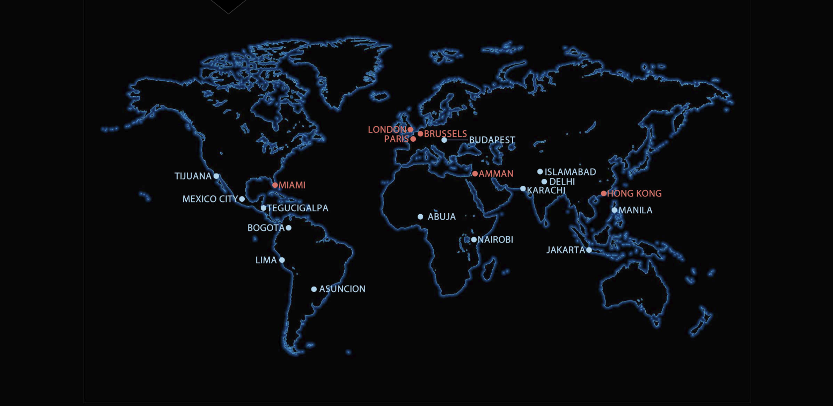 Interactive world map image