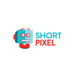 Short pixel logo words and robot