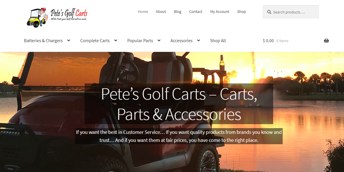 Pete's Golf Carts homepage