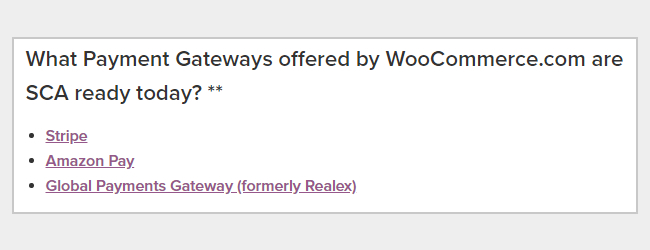 SCA ready payment gateways on WooCommerce
