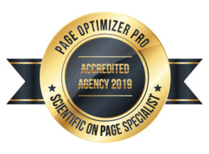 Page Optimizer Pro accredited agency badge