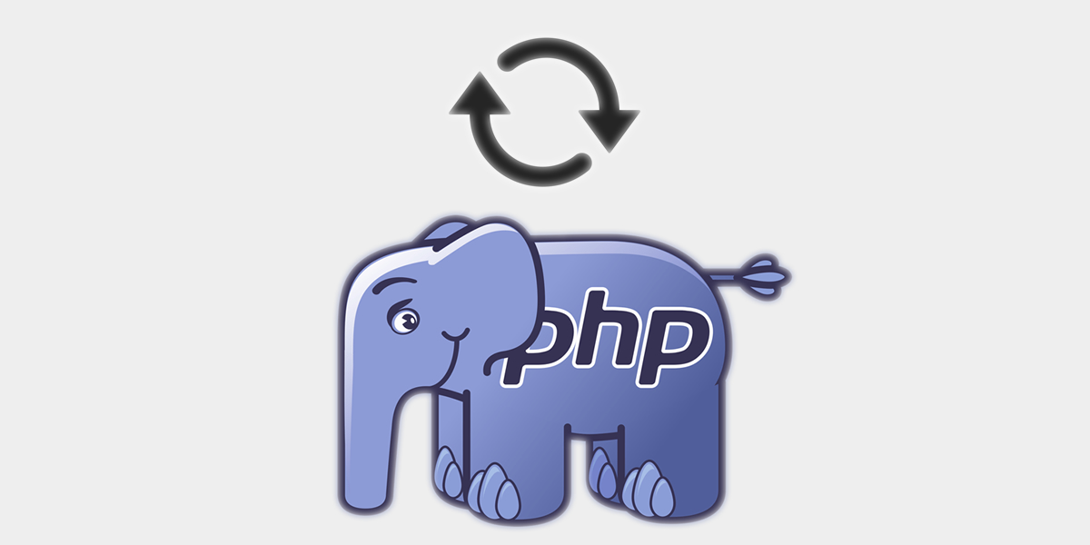 update icon near php elephant logo